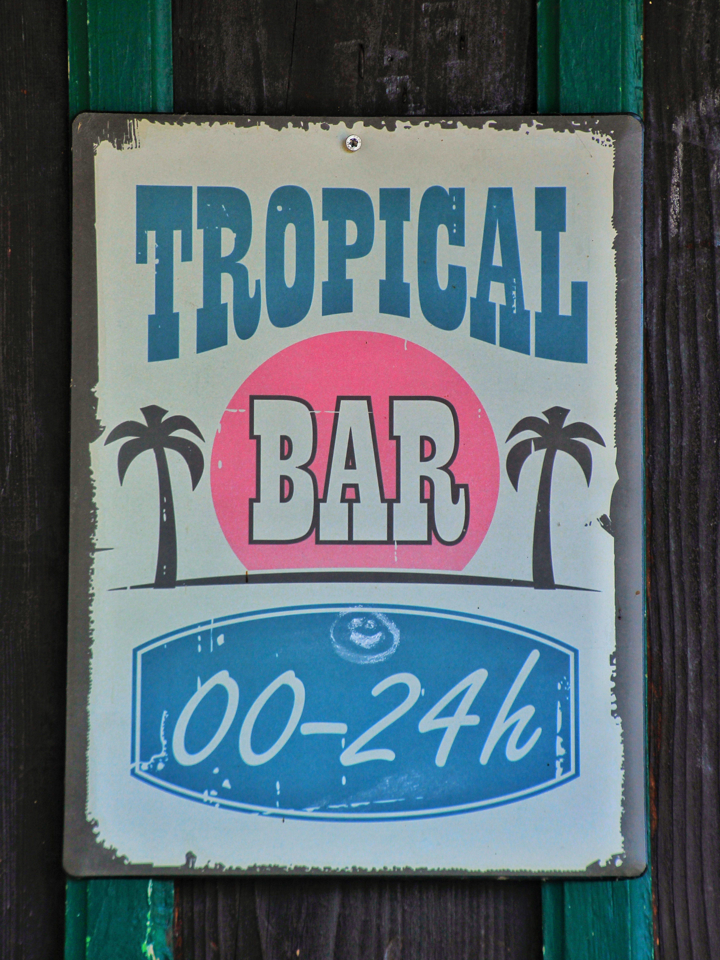 Strandbad Schild Tropical